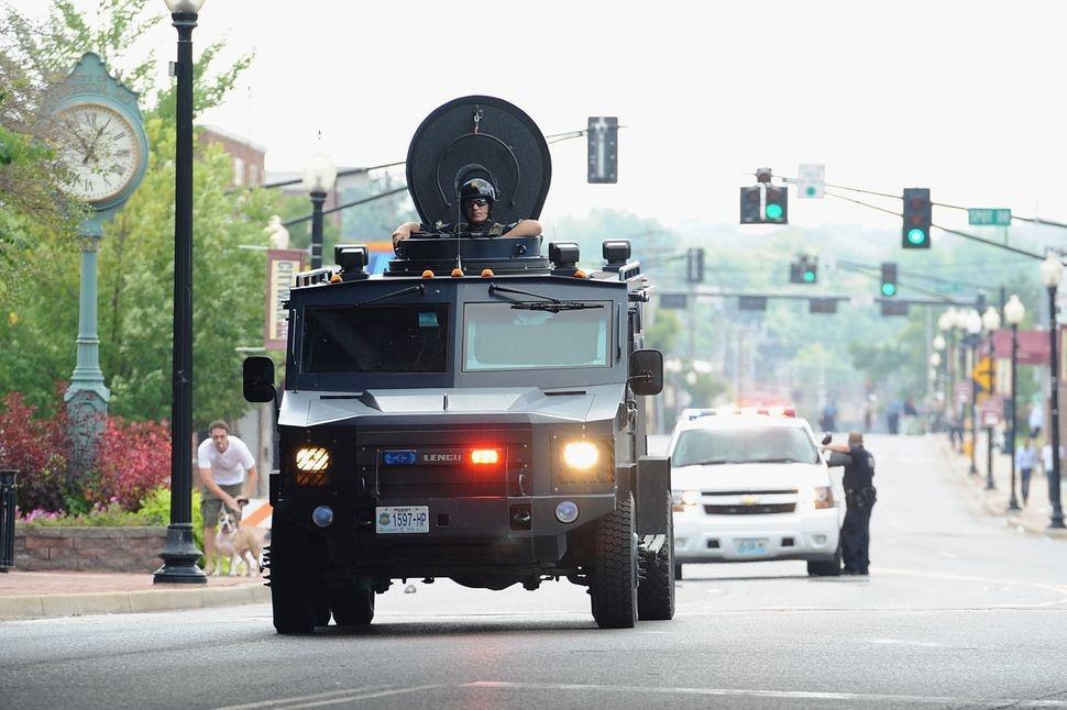 The violent response of law enforcement agencies to the protests that broke out in Ferguson, Missouri, in August 2014 further
