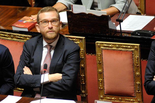 10/09/2019 Roma, Aula del Senato, discussione generale per la fiducia al governo Conte, nella foto Giuseppe...