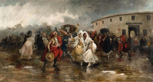 'Tarde de toros, lluvia', deEugenio Lucas Villaamil
