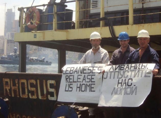 Boris Prokoshev et des membres de l'équipage du Rhosus demandent à être libérés...