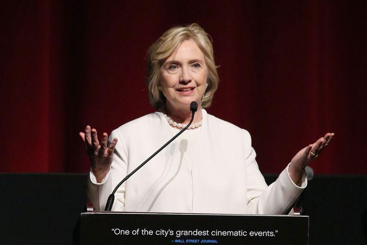 2015년 11월 19일 뉴욕에서 연설 중인 힐러리 클린턴