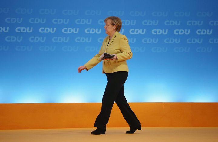 2014년 12월 10일 독일 쾰른에서 메르켈 총리