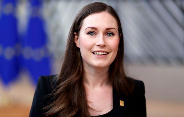 就任早々、コロナ対策の激務に追われたサンナ・マリン首相=2020年02月20日