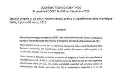 Il Cts raccomandò la zona rossa per Alzano e Nembro il 3 marzo ma non se ne fece