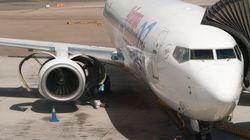 Un vuelo que hacía la ruta Gran Canaria-Madrid se desvía a Málaga ante la negativa de un pasajero a usar