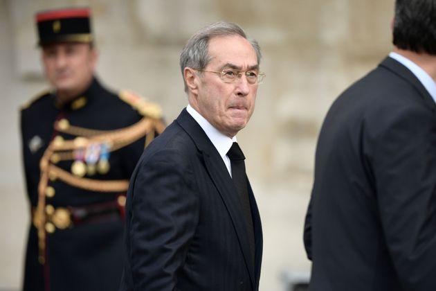 Claude Guéant lors des obsèques de Jacques Chirac à Paris le 30 septembre