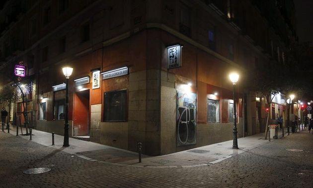 Zona de bares en el barrio de