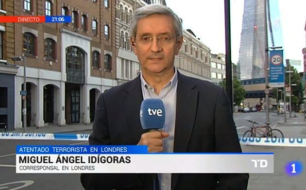 Miguel Ángel Idígoras, en una corresponsalía de