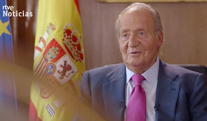 Juan Carlos I, durante la entrevista del documental 'Yo, Juan Carlos I, Rey de España'.