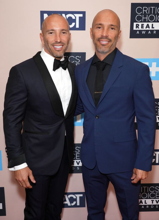 Jason Oppenheim (left) with brother