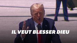 """Pour Donald Trump, Joe Biden veut """"blesser Dieu et la"""