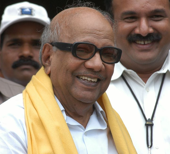 A file photo of M. Karunanidhi, who died on7 August, 2018.