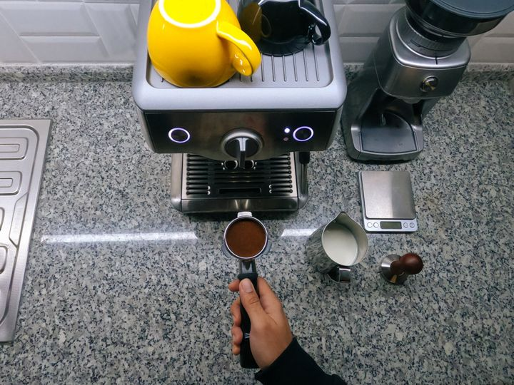 The features of an espresso machine are often what make it expensive. Look for semi-automatic or manual models to save a little money.