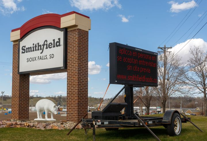 The Smithfield pork processing plant in Sioux Falls, South Dakota, was the site of one of the worst coronavirus outbreaks in