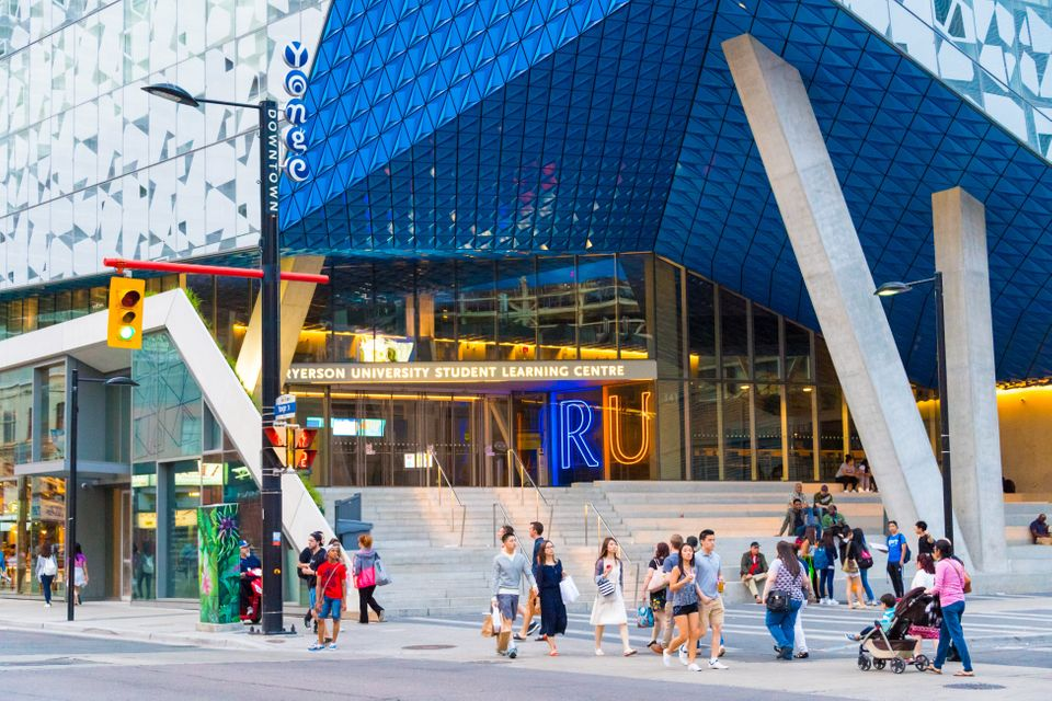 Ryerson University's downtown Toronto campus. Fombo says the university doesn't have enough support in...