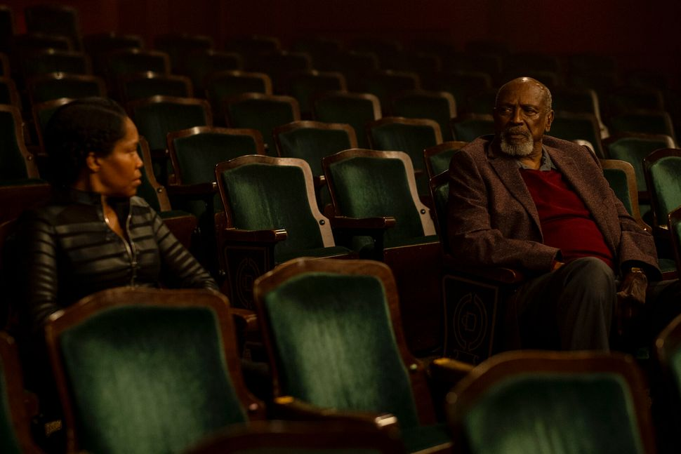 """Regina King and Louis Gossett Jr. in """"Watchmen,"""" a show that addresses the history of white supremacy in America."""