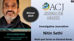 Nitin Sethi Wins The ACJ Investigative Journalism Award For HuffPost Series On Electoral