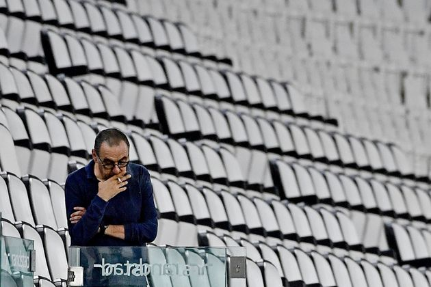 TURIN, ITALY - AUGUST 1: coach Maurizio Sarri of Juventus during the Italian Serie A match between Juventus...