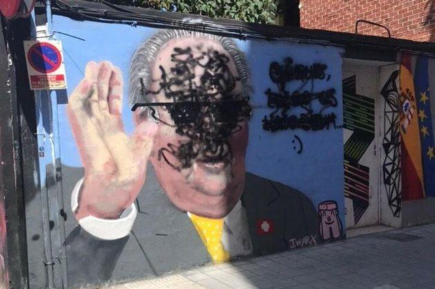 Boicotean el grafiti de J. Warx sobre el rey Juan Carlos en
