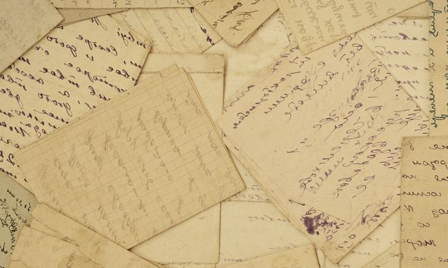 old paper, old letters,