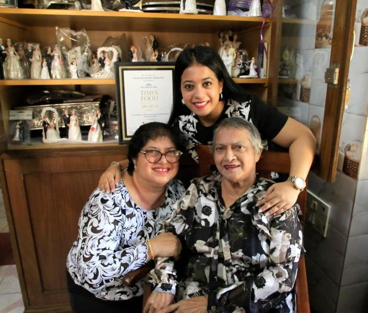 Mona Saldanha, daughter Debra Alexander and Alisha Alexander