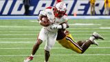 DETROIT, MI - DECEMBER 07:  Miami RedHawks running back Jaylon Bester (1) runs with the ball during the Mid-American Conference championship game between the Miami (Ohio) RedHawks and the Central Michigan Chippewas on December 7, 2019 at Ford Field in Detroit, Michigan. (Photo by Scott W. Grau/Icon Sportswire via Getty Images)