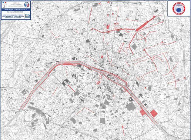 Voici les rues, quais et marchés de Paris où le masque sera obligatoire, même en extérieur, à partir...