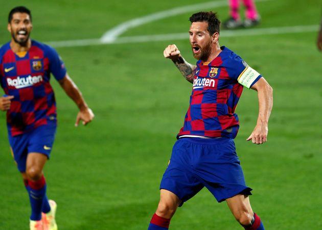 Lionel Messi celebra su