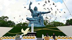 長崎原爆の平和祈念式典 首相あいさつでは核兵器禁止条約に触れず