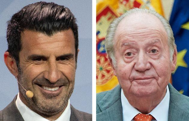 Luis Figo y Juan Carlos