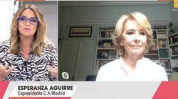 La implacable respuesta de Toñi Moreno a las pullas de Esperanza Aguirre en 'Viva La