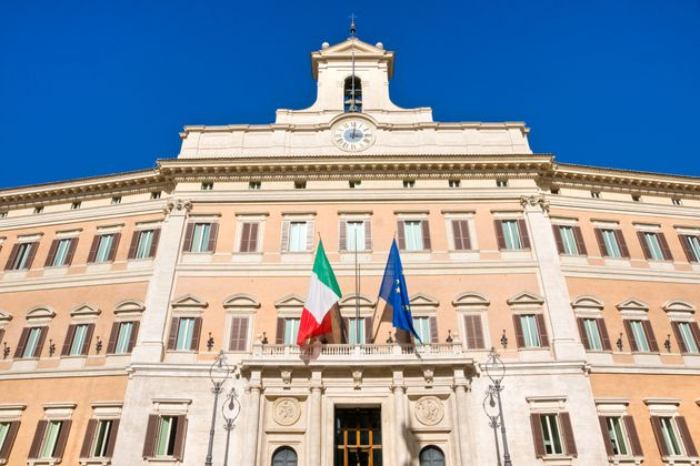 Montecitorio, house of italian parliament, Rome.