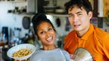 Uncle Roger, played by comedian Nigel Ng, met up with BBC presenter Hersha Patel to make rice together.
