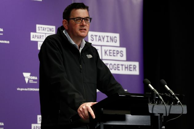 Victorian Premier Daniel Andrews speaks to the media at the daily briefing on August 09, 2020 in Melbourne,