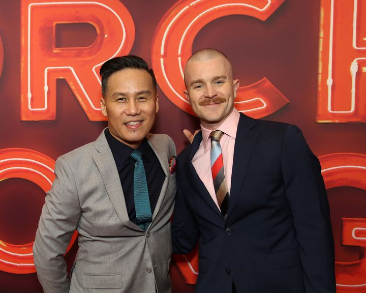 "BD Wong (left) and husband Richert Schnorr have teamed up for a topical reimagining of the 2005 song cycle, ""Songs"