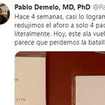 Un médico del hospital Gregorio Marañón de Madrid comparte el cartel que han vuelto a poner: es mala