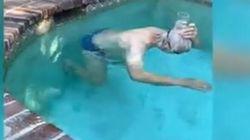 Mark Spitz vince la sfida lanciata da Ledecky: a 70 anni nuota con un bicchiere in