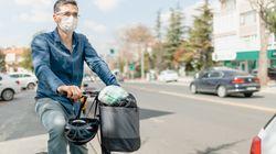 Les vélos et joggeurs concernés par les zones où le masque est obligatoire en