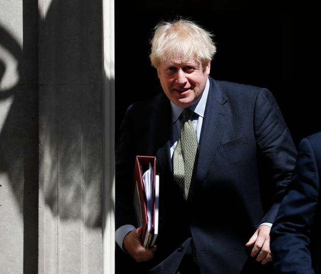 Prime Minister Boris Johnson leaves 10 Downing Street for the House of