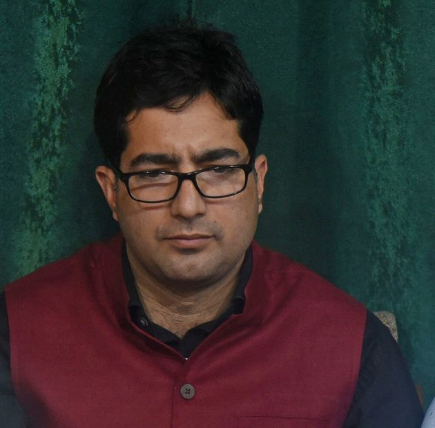 Jammu and Kashmir Peoples Movement's Shah Faesa on June 18, 2019 in