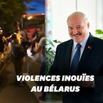 Les images des violents affrontements au Bélarus après la réélection de