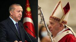 Il Papa e il sultano, in contrasto su tutto: da Gerusalemme a Tripoli, dalla laicità dello stato a Santa Sofia, dal genocidio...