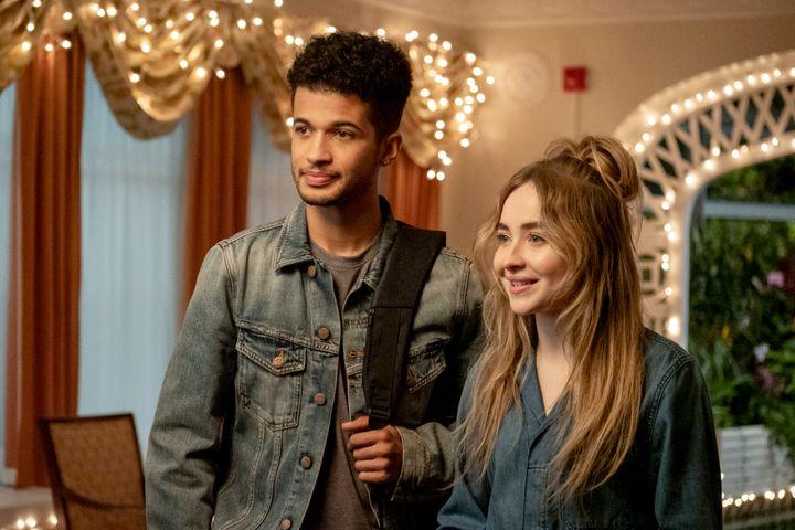 "Actors Jordan Fisher andSabrina Carpenter in the movie ""Work It"" on Netflix."