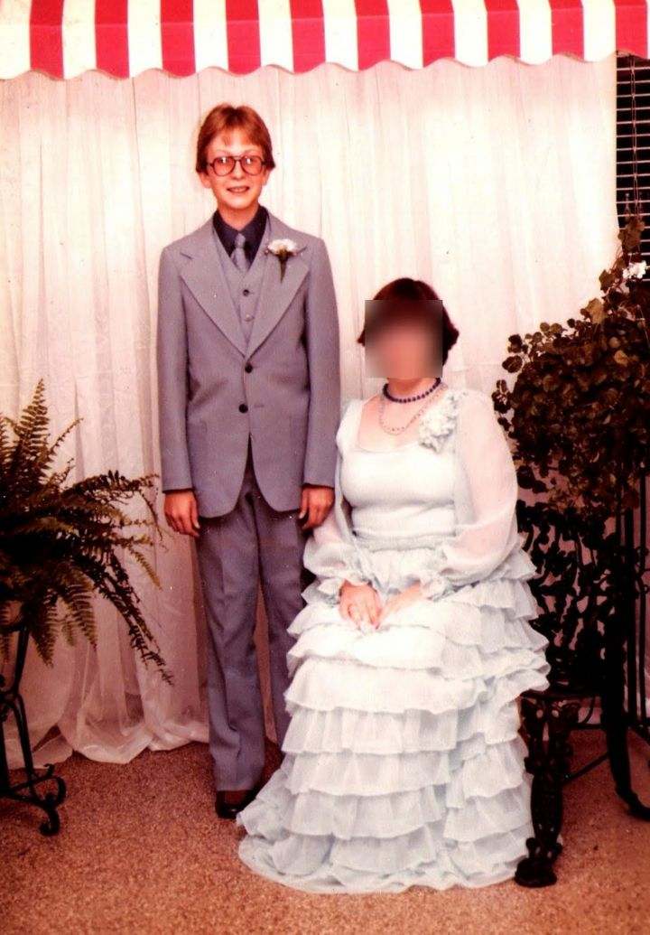 The author participated in the usual rites of growing up including high school dances. Here he is, age 15, with a date in the spring of 1979. This was a few years after he had seen Barbara Walters interview Anita Bryant.