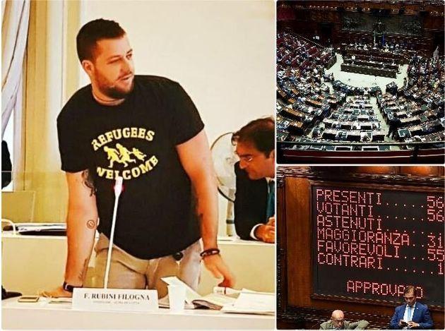 A sinistra Francesco Rubini, consigliere comunale ad Ancona. A destra una veduta della Camera dei deputati...