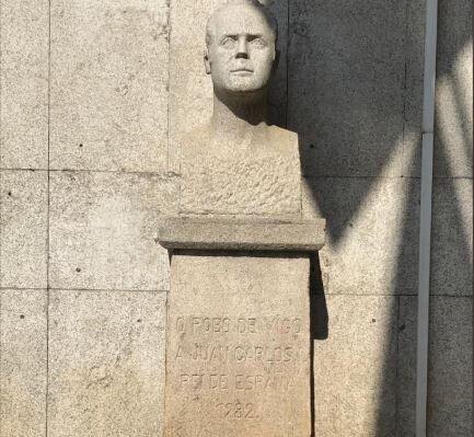 El busto del rey Juan Carlos en