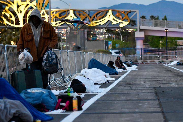 After shelter residents tested positive for COVID-19 in Las Vegas, the city moved its homeless population to parking lots.