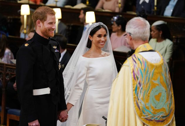 The Duke and Duchess of Sussex on their wedding day, May 19,