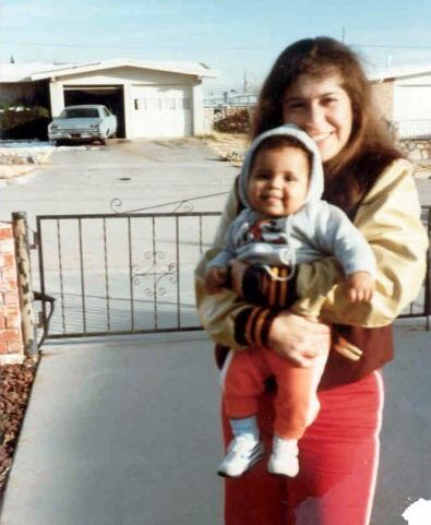 Baby Candace and her mom in El Paso, Texas, circa 1984.