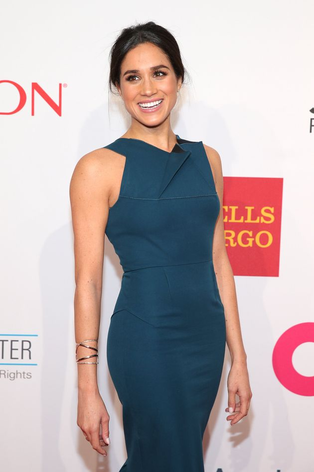 Meghan attends the Elton John AIDS Foundation benefit at Cipriani Wall Street on Oct. 28, 2014, in New...